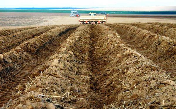 Обработка почвы с помощью техники