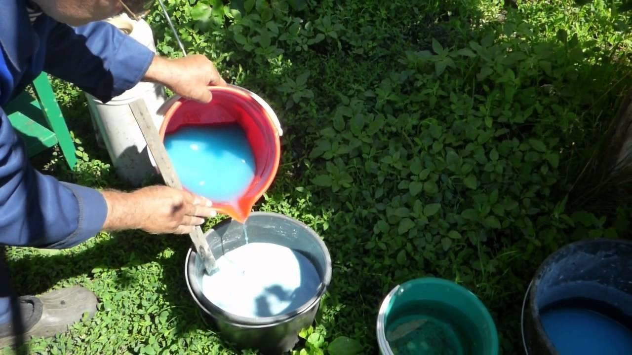 Приготовление Бордоской жидкости для опрыскивания персика