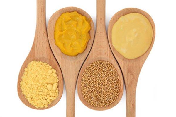 4 вида горчицы в ложках