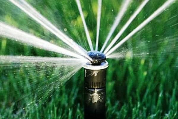 Автоматический полив газона дождевателем