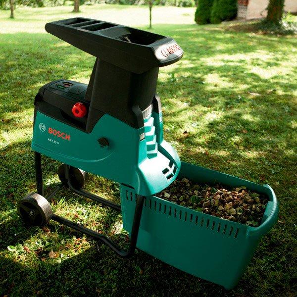 Садовый пылесос крупным планом