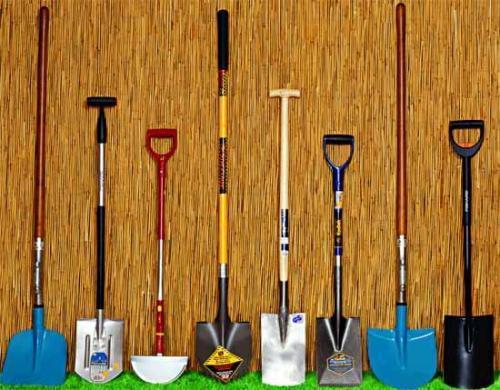Основные виды лопат для садовода