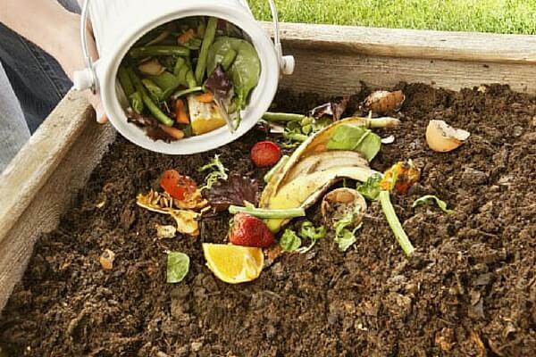 Органические отходы для перегноя укладываются слоями