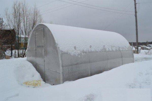 Теплица из поликарбоната и профильной трубы отлично выдерживает зиму