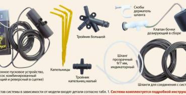 Комплектующие автоматической системы полива теплиц