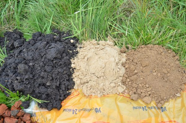 Грунт смешивают с сыпучими смесями для удобрения растений