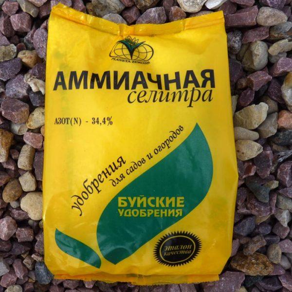 Использование аммиачной селитры для растения