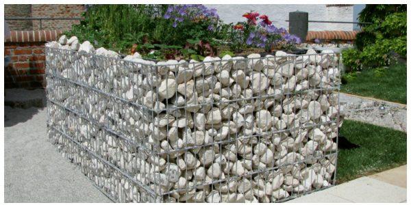 Габионы - отличное решение для декорирования участка