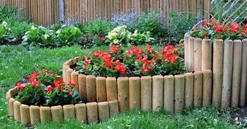 Как выглядит заборчик из деревянных чурок