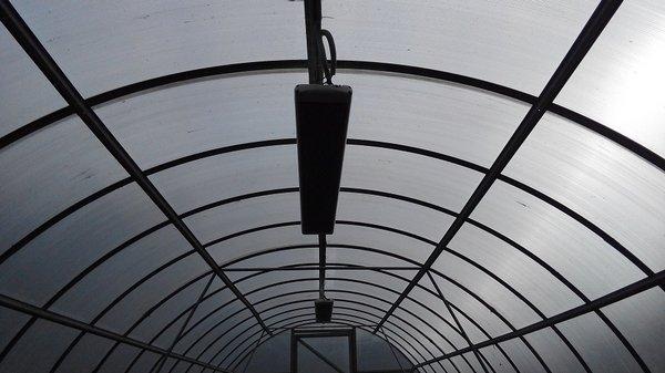 ИК отопление в теплице