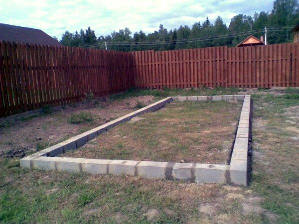 Заливка фундамента из бетона для теплицы