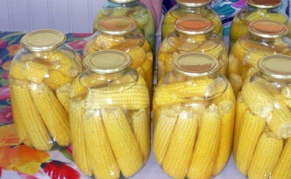 Консервирование молодых кукурузных кочанов