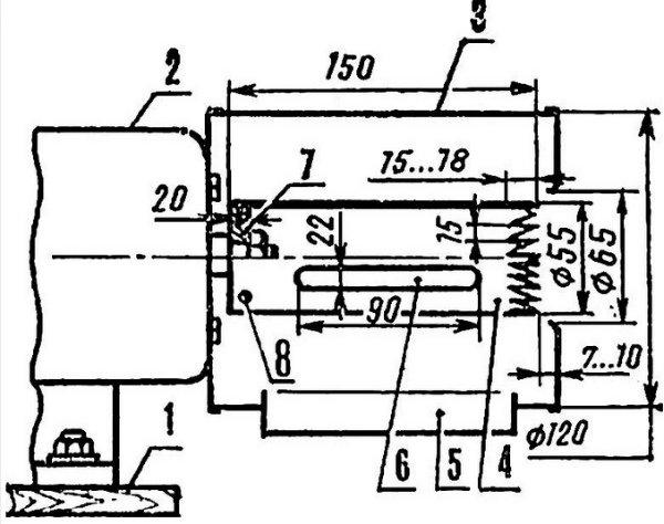 Схема кукурузной лущилки в сборке