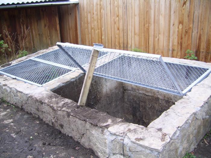 Забетонированная компостная яма своими руками