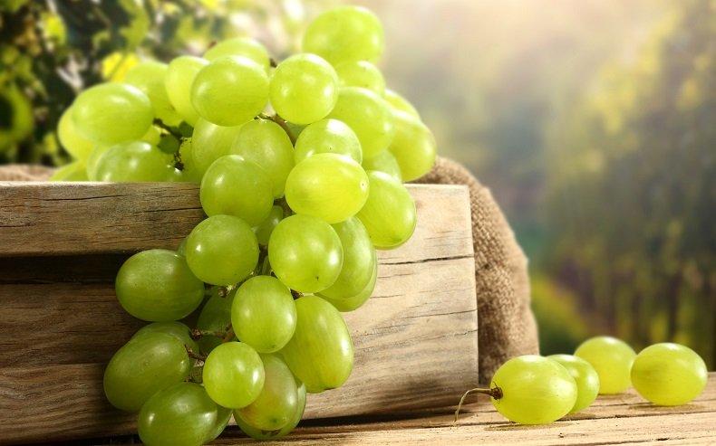 Горсть белого винограда