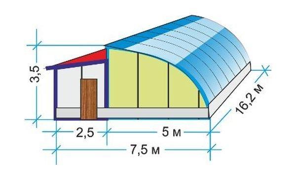 Размеры и чертежи конструкции