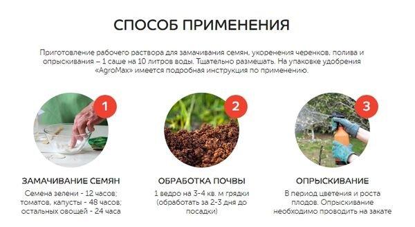 Способ применения удобрения AgroMax