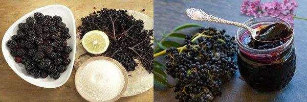 Варенье из ежевики с бузиной содержит много полезных микроэлементов