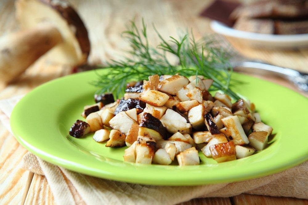 Жареные грибы приготовительно относительно легко