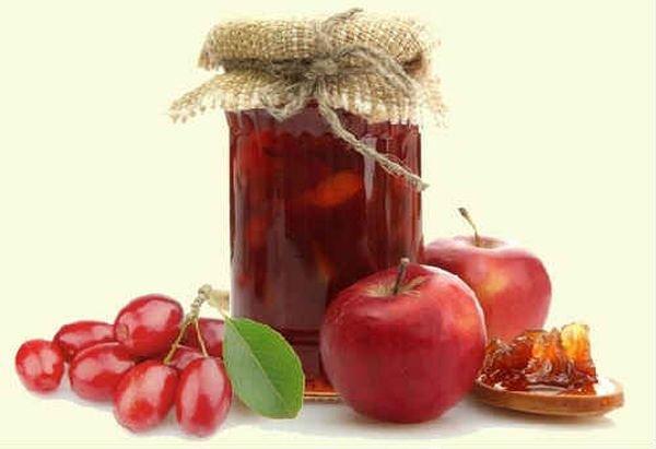 Кизиловое варенье с яблоками