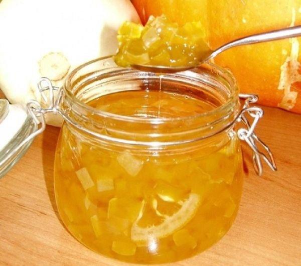 Варенье с яблоками, тыквой и лимонами