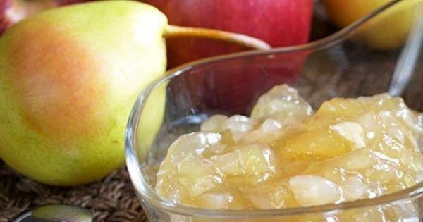 В варенье из тыквы с яблоками можно добавить груши и орехи