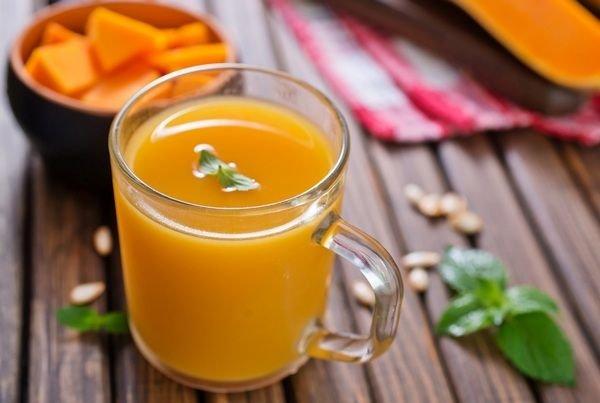Напиток из апельсинов и тыквы