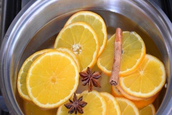 Напиток из апельсинов и корицы