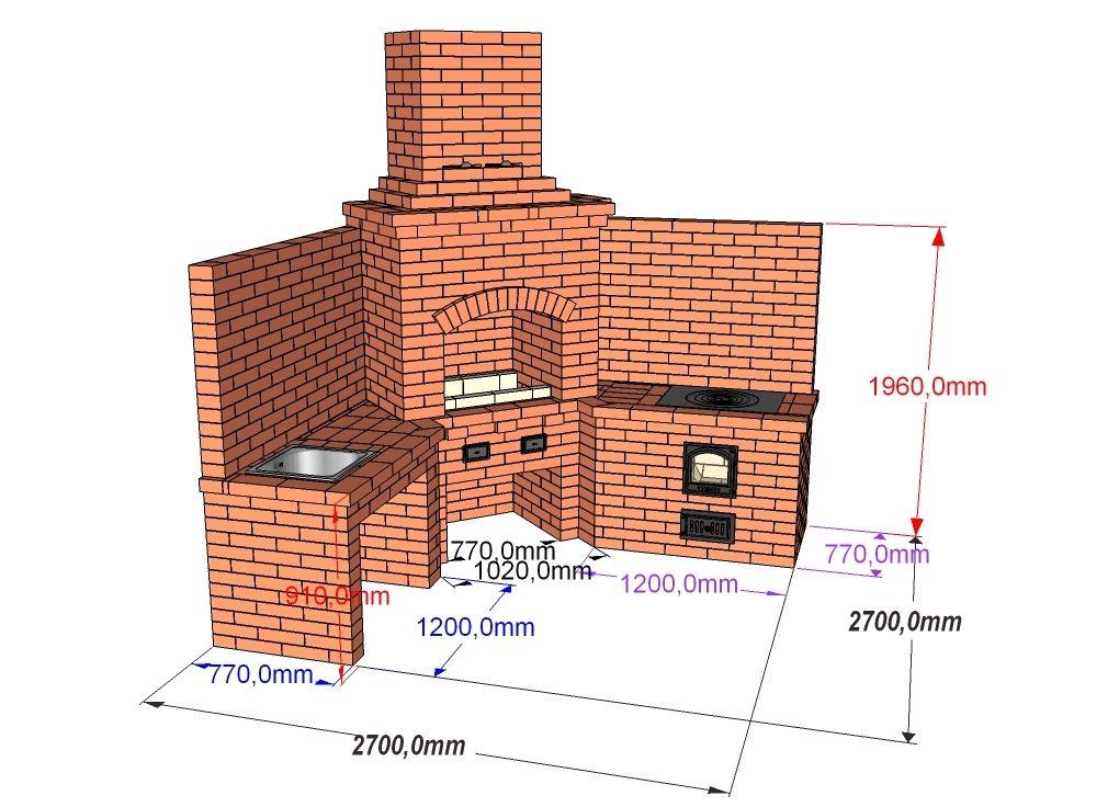 Проект углового комплекса барбекю