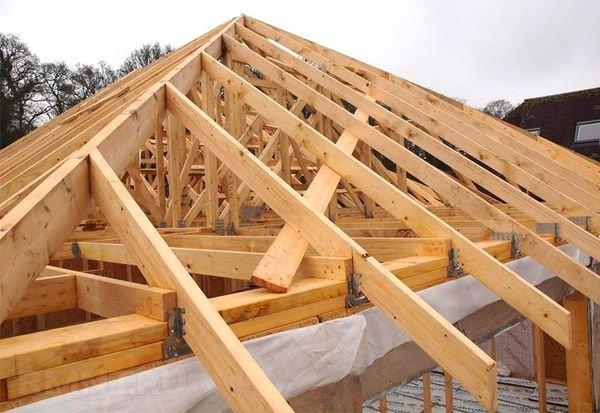 Каркас четырехскатной крыши