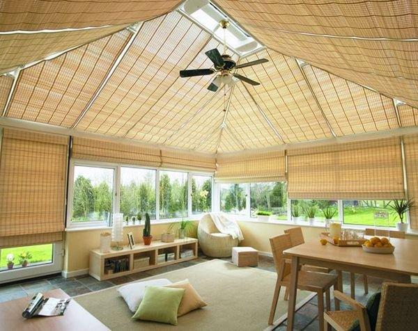 Бамбуковые шторы не портятся под действием ультрафиолета