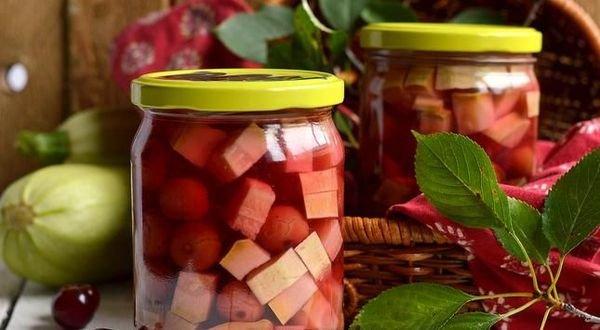 Кабачково-вишневый напиток