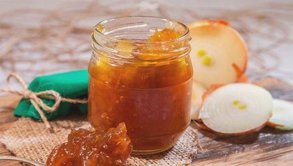 Луковое варенье с яблоками