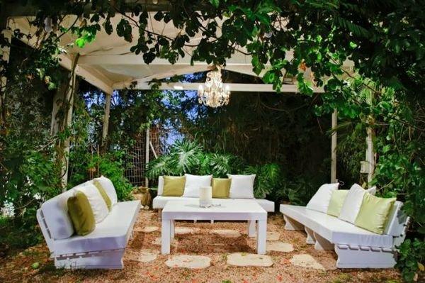 Оснастить зону патио можно любым типом садовой мебели