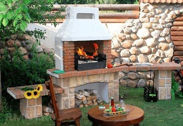 Печь для барбекю на даче