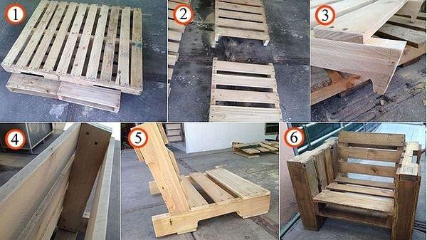 Изготовление кресла из поддонов