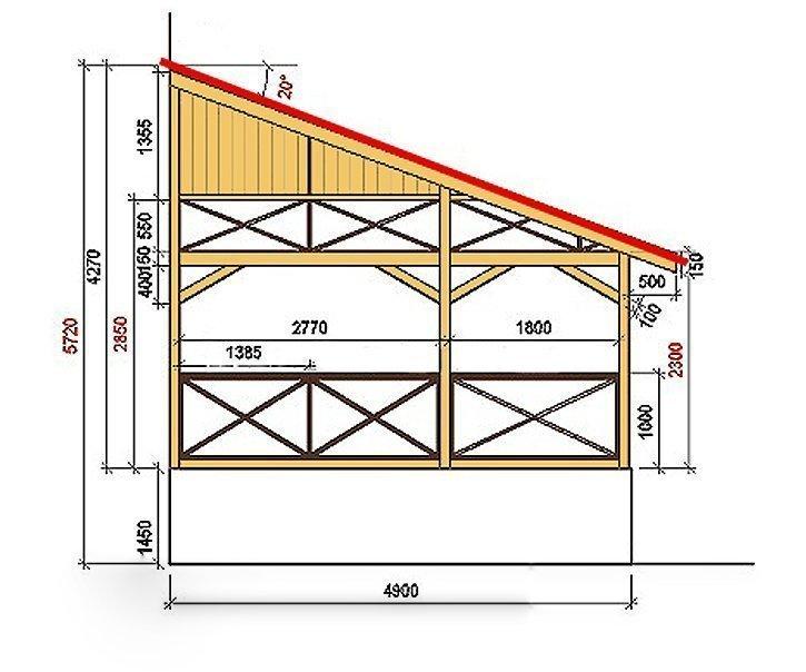 Схема-чертеж террасы для загородного дома