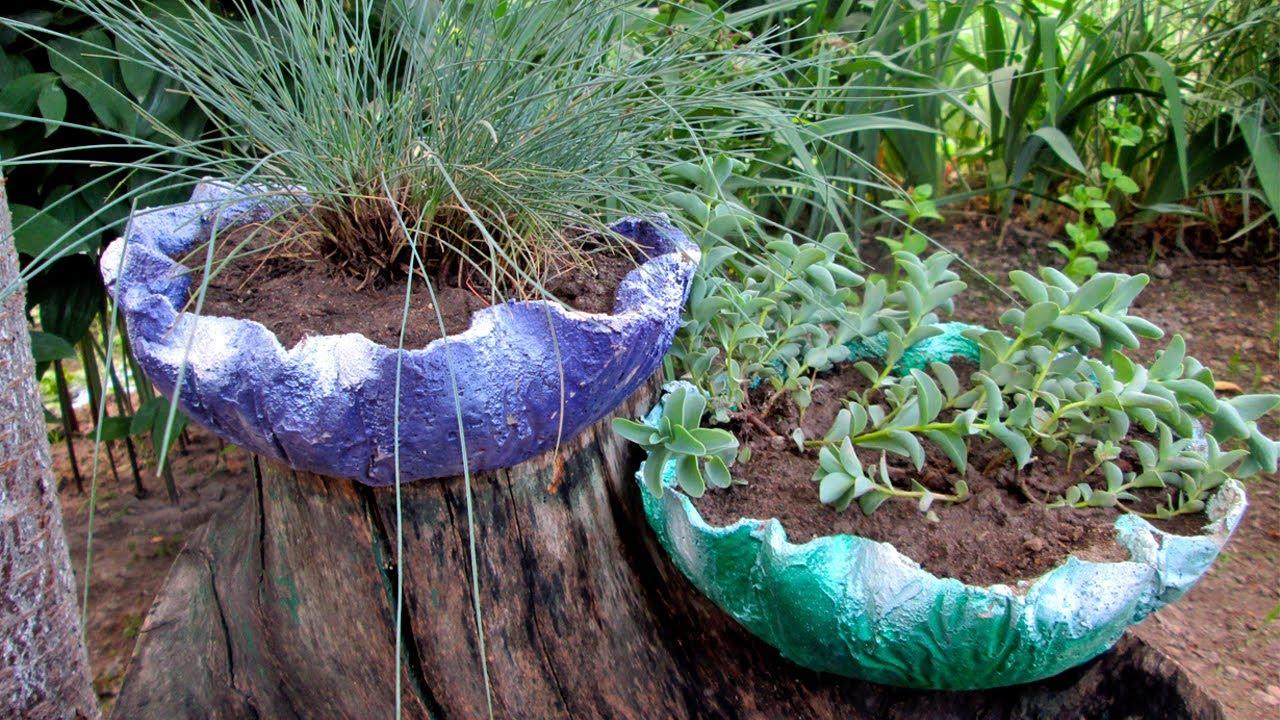 Вазы из цемента и ткани своими руками для сада фото 896
