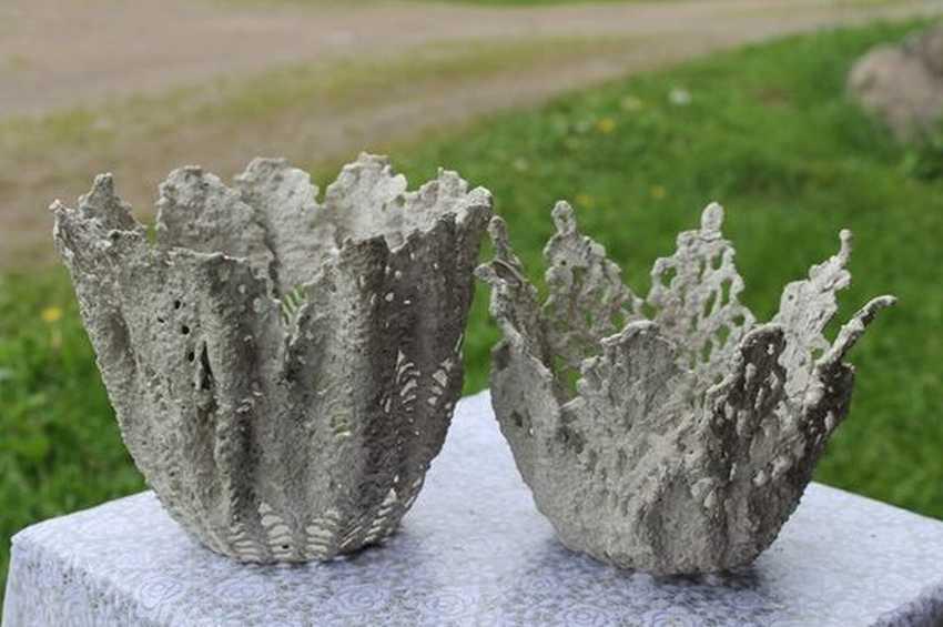 Ваза своими руками из цементного раствора песок щебень бетон