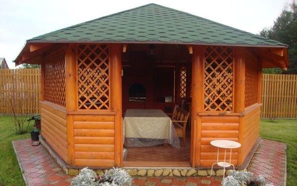 Деревянная беседка – это простая архитектурная конструкция для дачи