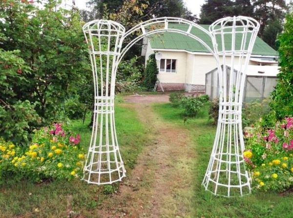 Арка для сада из пластиковых труб