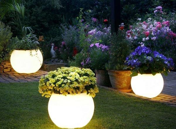 Светильники для сада можно сделать своими руками