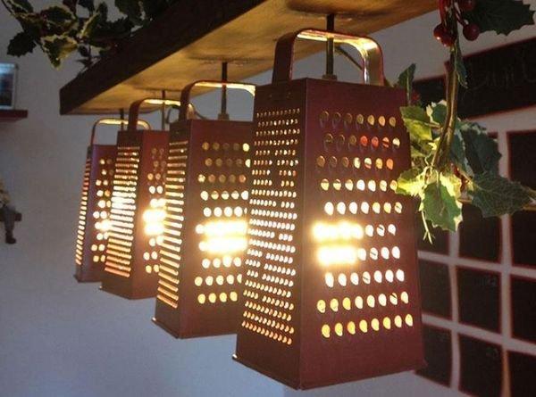 Садовый светильник из терки