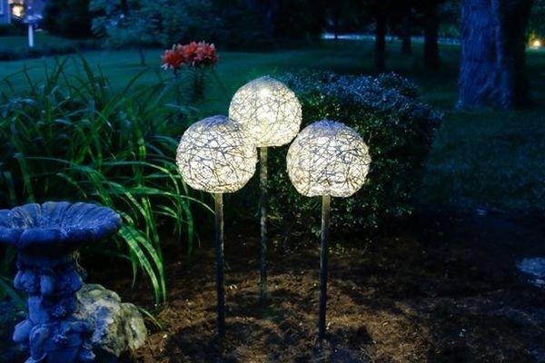Садовые светильники из бумаги